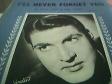 sheet music david hughes I'll never forget you