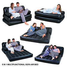5 IN1 MULTIFUNCTION INFLATABLE DOUBLE AIR BED SOFA CHAIR COUCH LOUNGER MATTRESS