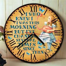 Alice in Wonderland Mad Hatter Kitchen Round Hanging Wall Clock Gift NRC08