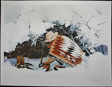 William NELSON, Original Lithograph, The Trapper, Signed Numbered