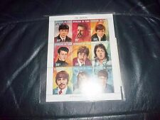 THE BEATLES STAMP SET OF 9 LIMITED EDITION STAMPS FROM CHAD MINT WITH SLEEVE FAB