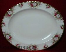 ROYAL ALBERT china CELEBRATION pattern Oval Serving Platter @ 13-5/8""