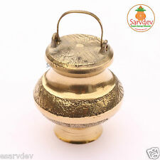 Ganga Jali Kalash Pot (Brass) for Holy Ganga Jal / Water / Gangotri (Empty)