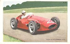 """Objet de Collection """" Carte Chocolat Tobler Voiture de Course Maserati  """""""