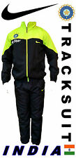 India cricket practice training Black tracksuit jacket pants jersey M L XL