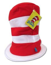 Dr. Suess Red Stripes Adjustable Tall Hat New Official Cap Children's Book