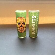 Lot of TWO NEW HORNITOS Tequila  SHOOTER SHOT GLASSES. Great!!!