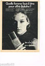 PUBLICITE ADVERTISING 0105  1970  BALAFRE  eau de toilette homme de LANCOME