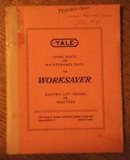 1953 YALE WORKSAVER ELECTRIC LIFT TRUCK MODEL M6DP27-48 PARTS LIST & DIAGRAMS