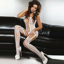 White Sexy Crotchless FishNet Body stocking Bodysuit Lingerie Nightwear BL1210