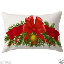 Cotton Linen Christmas Style Sofa Waist Cushion Cover Car Pillow Case Cover Gift
