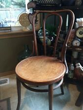 2348) Antique 1900s Bentwood Chair Bristo Ice Cream Parlor Cafe Seating Vintage