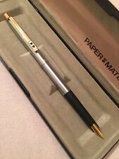 VINTAGE PAPER MATE FLIGHTER GT MEDIUM NIB FOUNTAIN PEN-BOXED/PAPERS-NOS