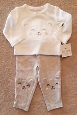 ADORABLE! NEW!! CARTER'S 3 MONTH 2PC CUTE WHITE KITTY OUTFIT