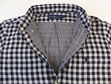 Polo Ralph Lauren LS Double-Faced 100% Cotton Gingham Plaid Shirt $125  Pony NWT