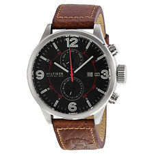 Tommy Hilfiger Brady Brown Dial Brown Leaher Strap Mens Watch 1790892