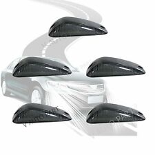 5X LED Black Long Smoked Len Top Roof CAB Marker Light Cover for TRUCK SUV VANS