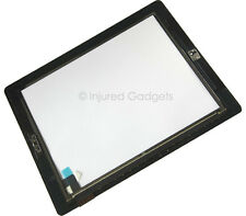 Black Touch Screen Glass Digitizer Replacement Home Button + Adhesive for iPad 2