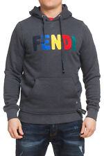 FENDI MEN AUTHENTIC SWEATER SHIRT HOODED SIZE S  100%Cotton, NWT made in ITALY
