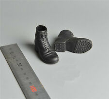 """1/6 Dragon Model DML WWII German Blk Leather Boots Shoes Accessory F 12"""" Figures"""