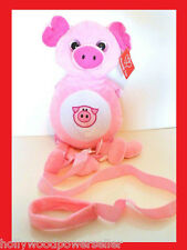 Childrens TODDLER PIGGY plush animal SAFETY HARNESS LEASH BACKPACK tether