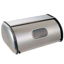 Panera Pan de Caja de almacenamiento de cocina de acero inoxidable con acabado con espejo de ventana