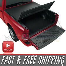 TRI-FOLD Folding Tonneau Cover 2014-2016 Chevy Silverado & GMC Sierra 6.6ft Bed