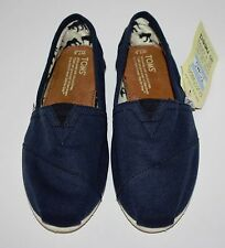 NEW Womens TOMS Classic Navy Blue Flats Shoes Size 7.5