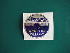 Jensen Speaker Sticker P&S  2""