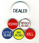 NEW BLOWOUT SALE Casino Grade Items DEALER BUTTON & 5 LAMMERS POKER SET Blinds *