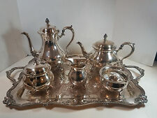 Vintage Wilcox Rochelle Silver Plate Coffee and Tea Service Set of 7 7074