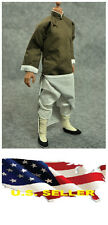 1/6 coffee color Robe costume Bruce Lee Kung Fu suit set ❶❶US seller❶❶