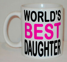 World's Best Daughter Mug Can Personalise Birthday Congratulations Gift Worlds