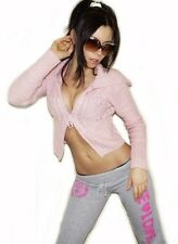 """$69 """"Jessica Simpson"""" Sexy Cropped Wool / Mohair Blend Cable Knit Sweater Top S"""