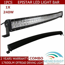 43inch 240W LED Curved Light Bar Combo Off-road Driving For SUV FOG JEEP AUTO EP