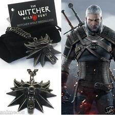 The Witcher 3 Wild Hunt Me­dail­lon Medallion Kette Anhänger Necklace Pendant