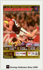 2004 AFL Teamcoach Gold Trading Card G116 Russell Robertson (Melbourne)