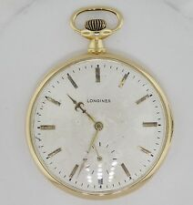18K Yellow Gold Longines 16 Jewel Mechanical Wind Up Vintage Pocket Watch