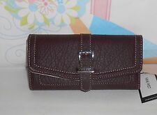 Nine West Ladies Cheeckbook Clutch Wallet Colorado Slugger Garnet MM NWT