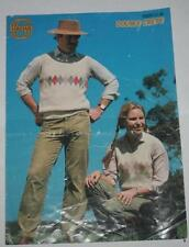 Knitting  Patterns - Sidar # 7509 Double Crepe Vests Mens & Ladies