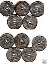 manueduc  ESPAÑA  25  Céntimos 1934 REPÚBLICA   5  Monedas Circuladas