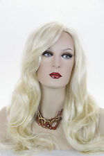 Long Luxurious Glamorous Straight Skin Top Wigs W Natural Looking Side Skin Part