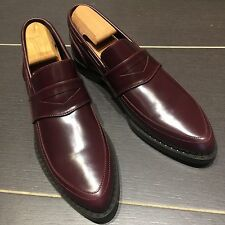 Brand New Jimmy Choo Jared Maroon Calf Leather Loafers Size 43 UK 9