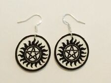 Supernatural Tattoo Symbol Logo Sam Dean Cas TV Earrings HANDMADE PLASTIC CHARMS