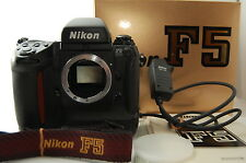 Mint! Rarely used Nikon F5 35mm SLR Film Camera Body w/ Strap & MC-30 from Japan