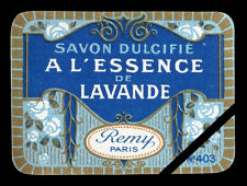 Vintage French Soap Perfume Label 1900 Antique Essence Lavande Savon Dulcifie
