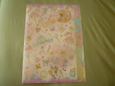 Sailor moon crystal jumbo file pocket folder holder plastic clear Usagi ~ Rare