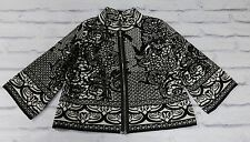 : MI FLOCK D. Exterior £ 450 Black & White Bell Manica Stretch Jacket Sz S/uk12
