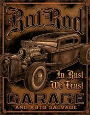 Rat Rod Garage And Auto Salvage Vintage Novelty TIN SIGN Metal Shop Poster