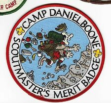 BOY SCOUT  CAMP DANIEL BOONE  SCOUTMASTERS MERIT BADGE JACKET PATCH    NC